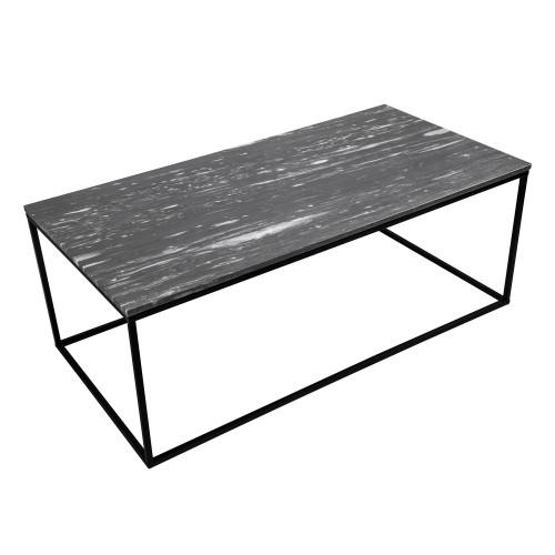 Table basse rectangulaire Dagmar marbre noire : achetez les tables ...