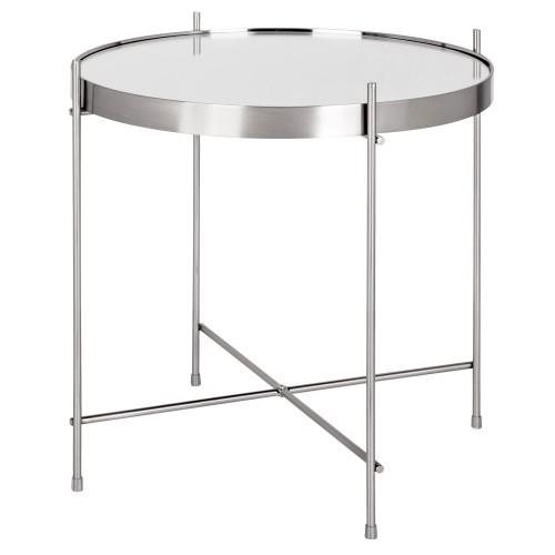 acheter table basse ronde argente