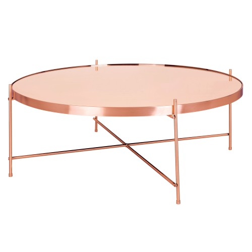 Table basse ronde Valdo cuivre L