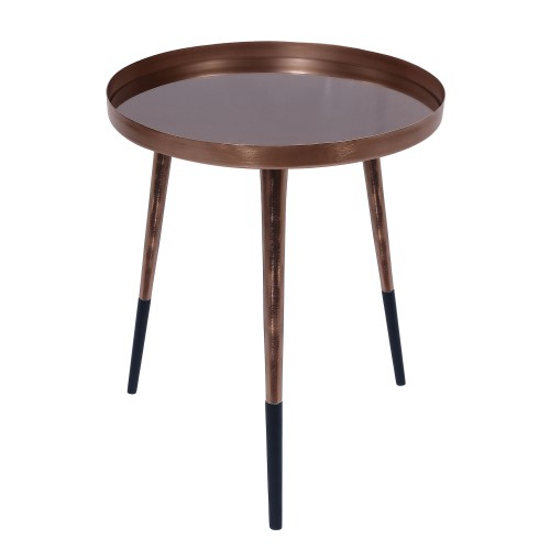 acheter table basse ronde cuivre