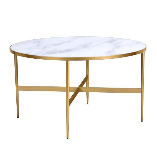 acheter table basse ronde diametre 80 cm dore