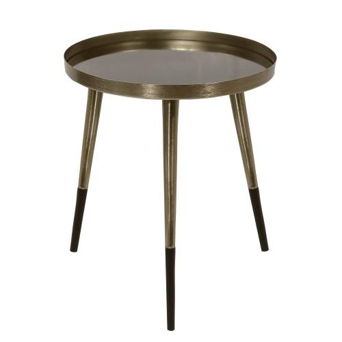acheter table basse ronde doree