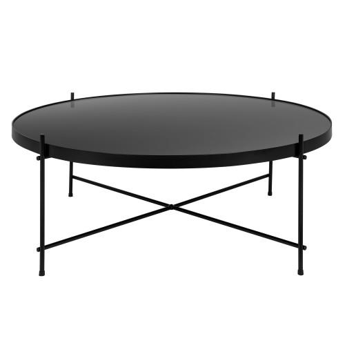 table basse ronde valdo noire l choisissez nos tables basses ronde valdo noires l rdv d co. Black Bedroom Furniture Sets. Home Design Ideas