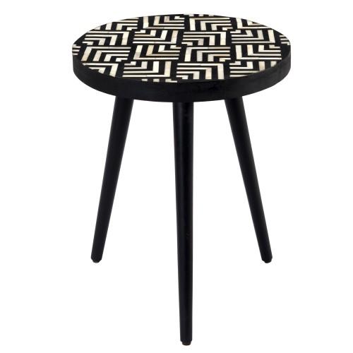 acheter table basse ronde motifs ethnique