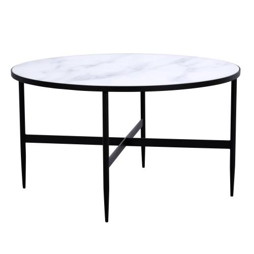 acheter table basse ronde noire diametre 80 cm