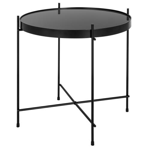 Table basse ronde Valdo noire S
