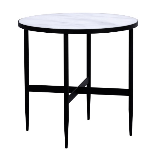 acheter table basse ronde pieds noirs