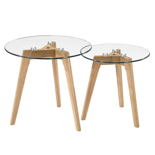 acheter table basse ronde verre