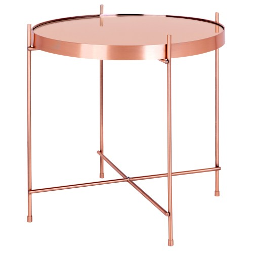 Table basse ronde Valdo cuivre S