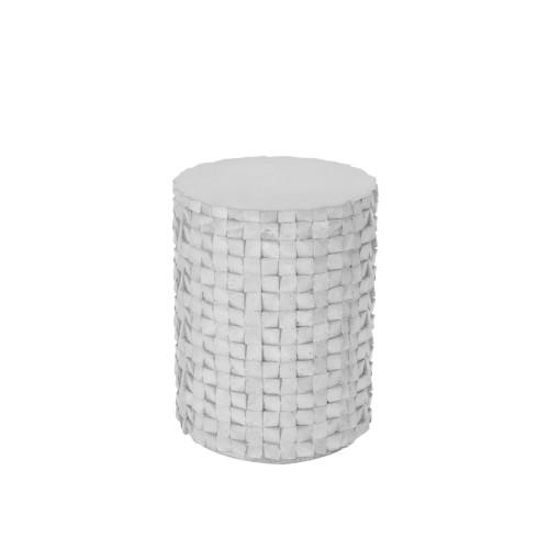 acheter table d appoint beton blanc