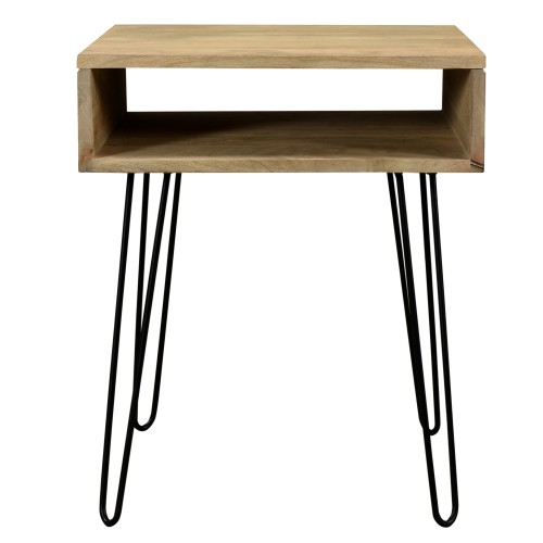 acheter table d appoint bois clair