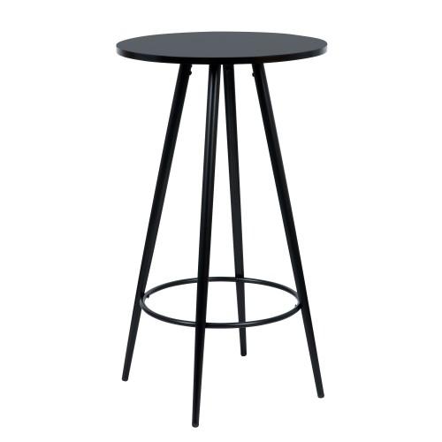 Table de bar Garibaldi noire Ø60cm