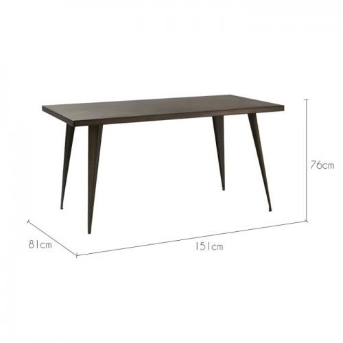 acheter table de repas bronze metal