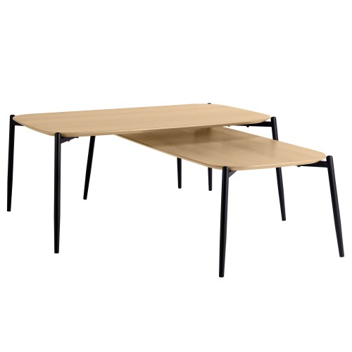 Tables basses gigognes Prissy (lot de 2)