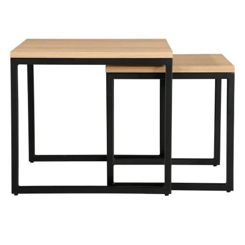 Table basse carrée  Kavu (lot de 2)