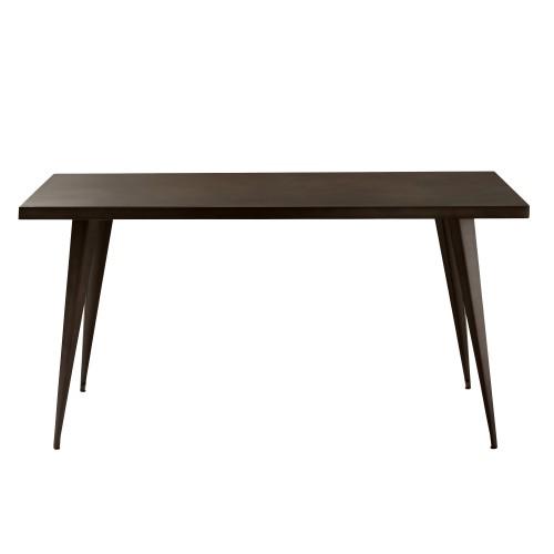 acheter table industrielle bronze metal