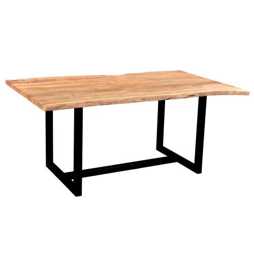 acheter table rectangulaire bois et metal