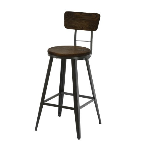 acheter tabouret de bar confort bois metal
