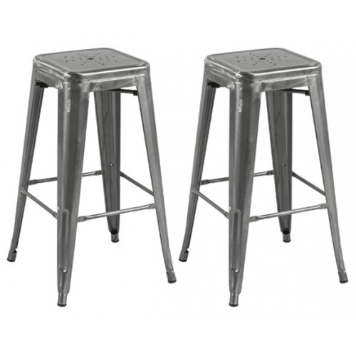 Tabouret de bar Indus chrome 73 cm (lot de 2)