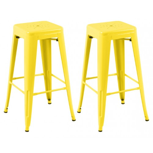 Tabouret de bar Indus jaune (lot de 2)