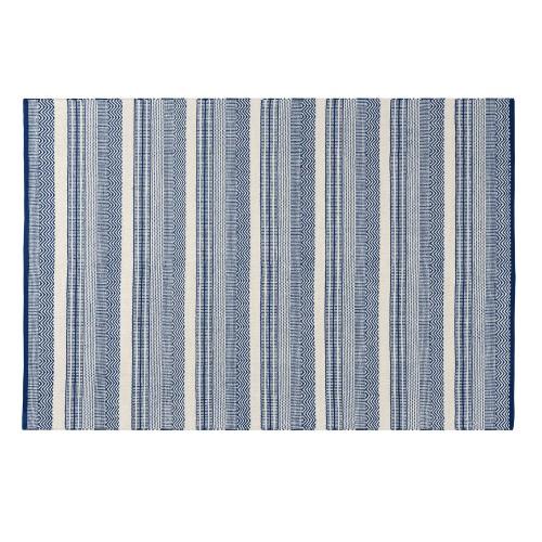 Tapis bleu César en coton 140x200 cm