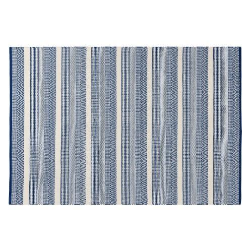 acheter tapis bleu et blanc ethnique