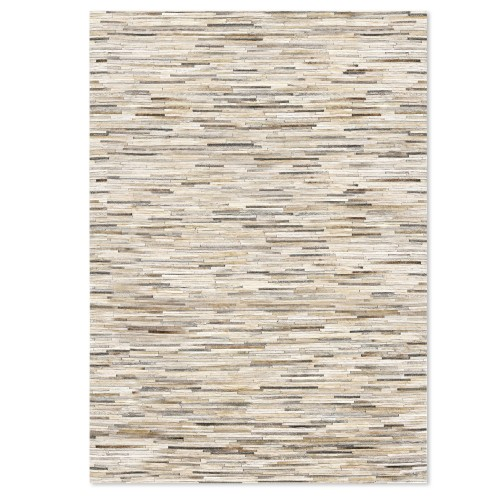 acheter tapis fait main cuir beige