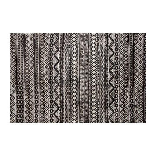 acheter tapis noir et blanc en cuir 230