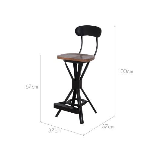 chaise de bar delhi installez vous sur nos chaises de bar delhi design rdv d co. Black Bedroom Furniture Sets. Home Design Ideas