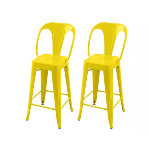 Chaise de bar Indus jaune 66 cm (lot de 2)
