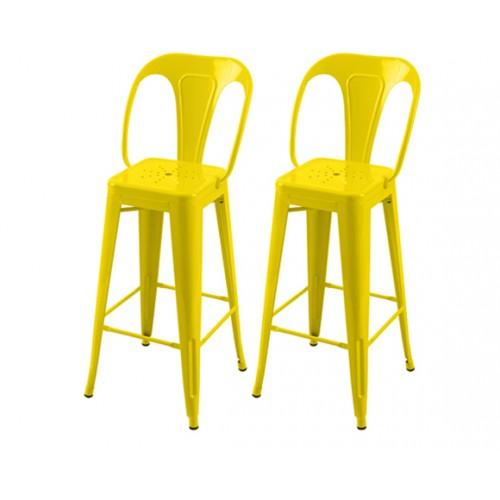 Chaise de bar Indus jaune 76 cm (lot de 2)