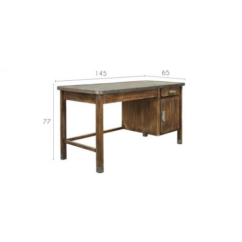 bureau bois metal pas cher