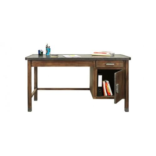 bureau bois metal