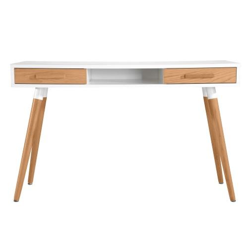 bureau scandinave blanc et bois