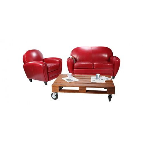 canapé club rouge2