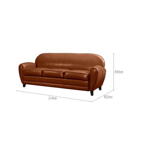 canap club 3 places cuir camel commandez nos canap s. Black Bedroom Furniture Sets. Home Design Ideas