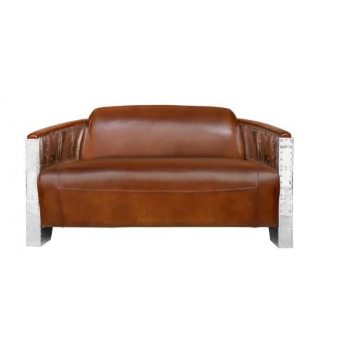 canape cuir metal cuir - Canape Vintage