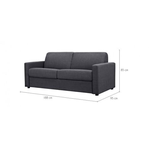 canape lit gris 140 x 190 design - Canape Lit 140