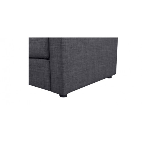 canape lit gris 140 x 190 qualite