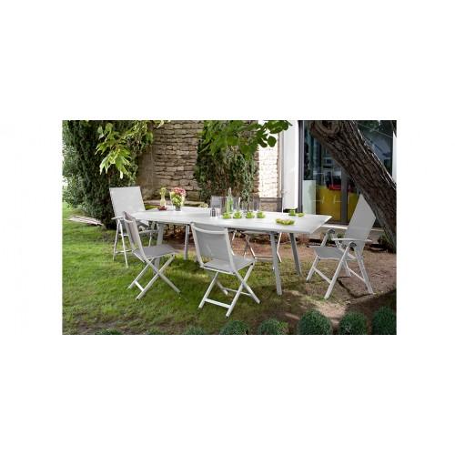 Chaise de jardin terra gris clair adoptez nos chaises de for Chaise bas prix