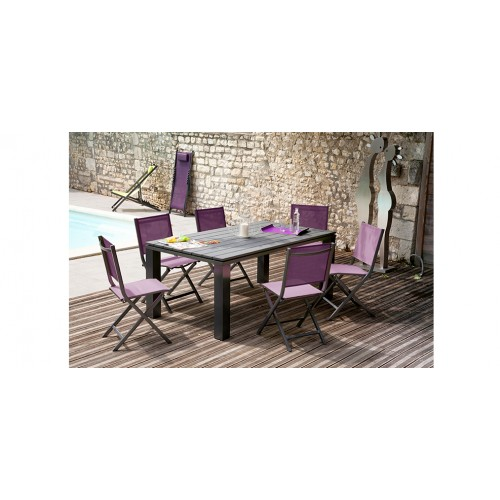 Chaise de jardin terra violette lot de 2 commandez nos for Chaise 1er prix