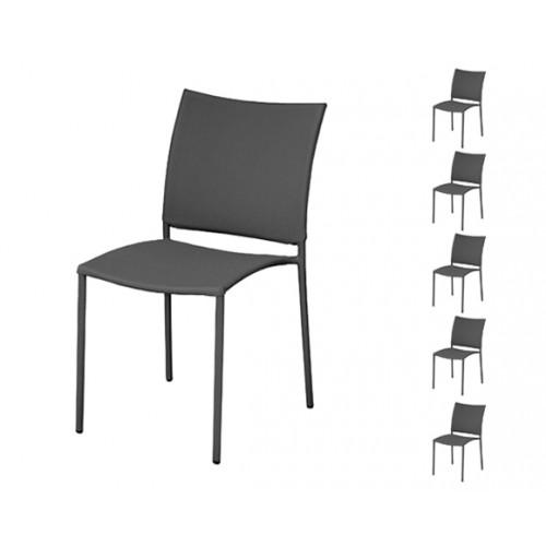 chaise de jardin rio cuarto gris lot de 6