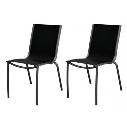chaise de jardin santa rosa lot de 2