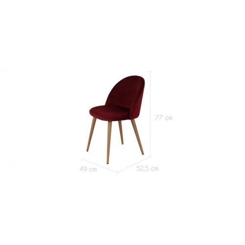 chaise cozy en velours bordeaux lot de 2 d couvrez les chaises cozy en velours bordeaux lot. Black Bedroom Furniture Sets. Home Design Ideas