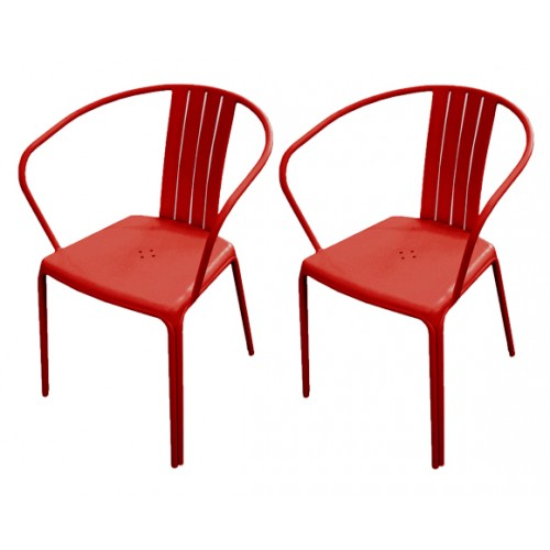 chaise exterieur rouge design