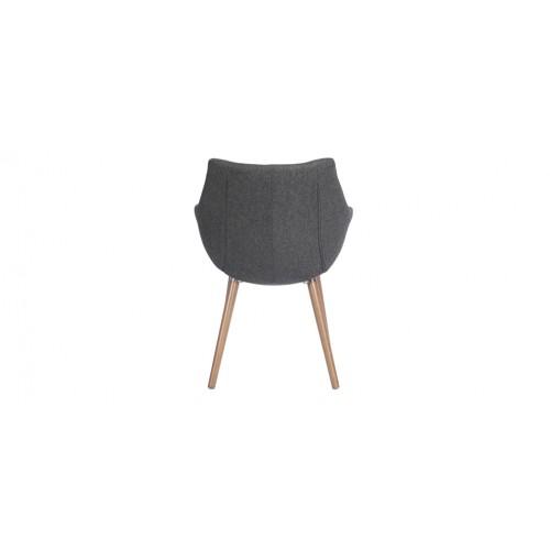 Chaise tissu grise commandez nos chaises en tissu grises for Chaise grise pied blanc