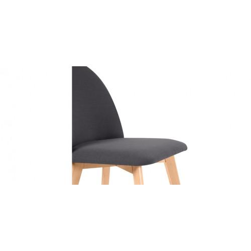 Chaise linosa gris fonc d tendez vous sur les chaises for Chaise scandinave grise