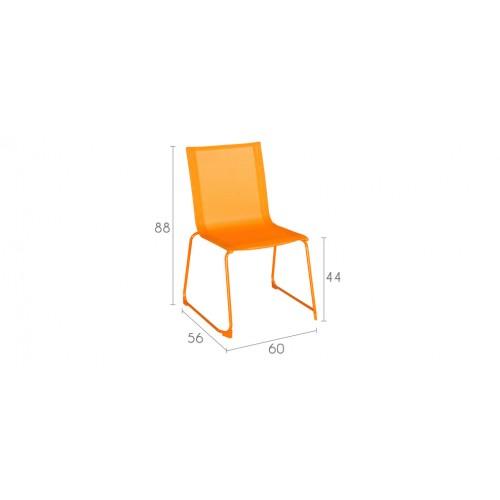 chaise empilable orange achetez nos chaises empilables orange petit prix rdv d co. Black Bedroom Furniture Sets. Home Design Ideas