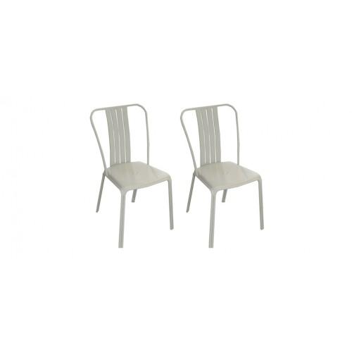 chaise jardin grise metal - Chaise De Jardin