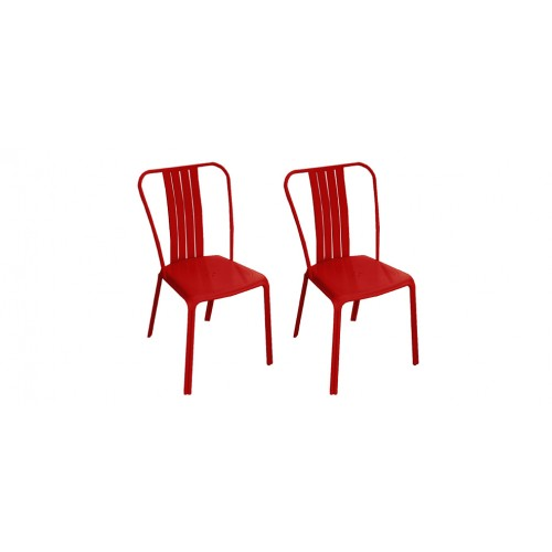 chaise de jardin azuro rouge lot de 2 d couvrez nos chaises de jardin azuro rouges lot de 2. Black Bedroom Furniture Sets. Home Design Ideas